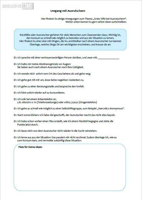 Breaking Meth Arbeitsmaterialien | drugscouts.de